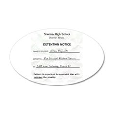 'Breakfast Club Detention' 22x14 Oval Wall Peel