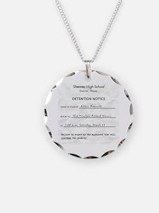 'Breakfast Club Detention' Necklace