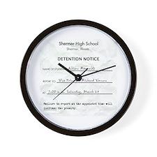 'Breakfast Club Detention' Wall Clock
