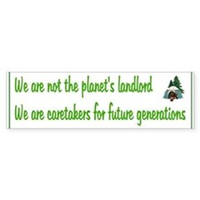 Earth's Caretaker Bumper Bumper Sticker