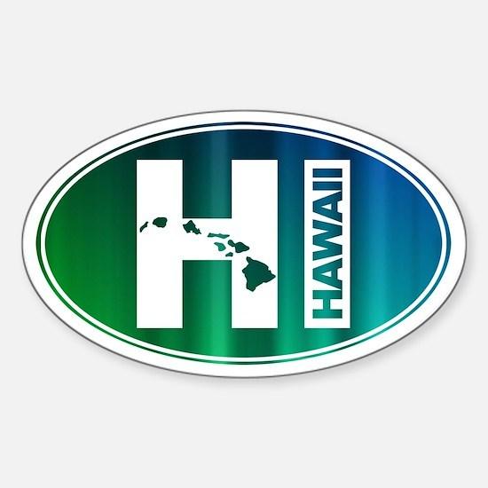 HI Hawaii - Sticker (Oval)