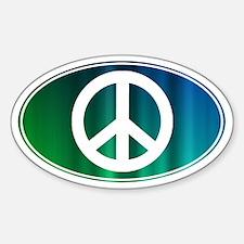PEACE - Sticker (Oval)