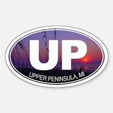 UP - Upper Peninsula, MI - Sticker (Oval)