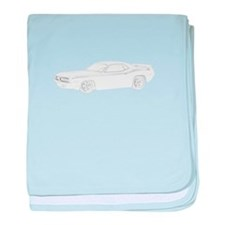 1970 Plymouth Barracuda baby blanket