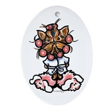 High Maintenance Yorkie Ornament (Oval)
