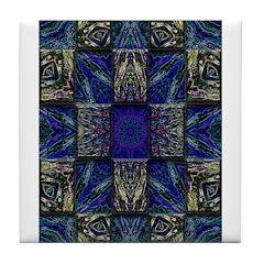 Eyes of the Night Tile Coaster