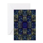 Eyes of the Night Greeting Card