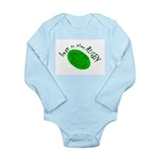 'Born to Play Rugby' LS Baby Bodysuit