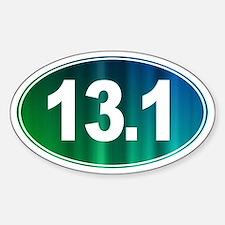13.1 - Half Marathon - Sticker (Oval)
