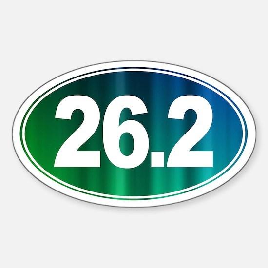 26.2 - Full Marathon - Sticker (Oval)