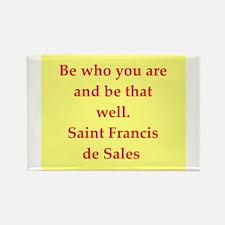 Saint Frances de Sales. Rectangle Magnet