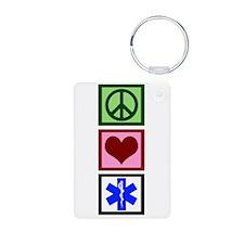 Peace Love Paramedic Keychains