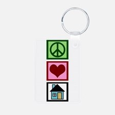 Peace Love Real Estate Keychains