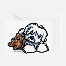 Coton Teddy Greeting Card