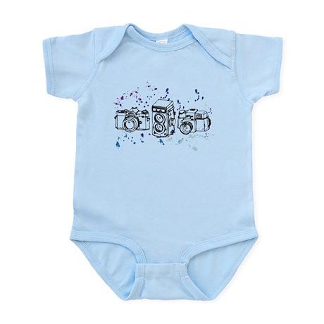 Paint Splatter Retro Camera Infant Bodysuit