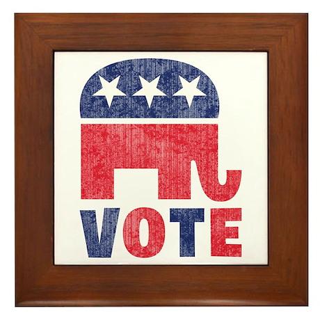 Republican Vote 2 Framed Tile
