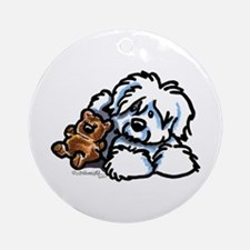 Coton Teddy Ornament (Round)