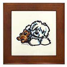 Coton Teddy Framed Tile
