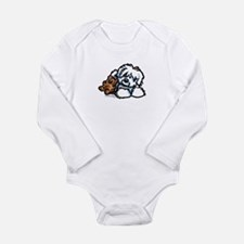 Coton Teddy Long Sleeve Infant Bodysuit