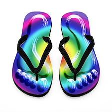 Neon Lights Flip Flops
