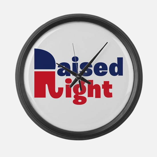 Raised Right Large Wall Clock