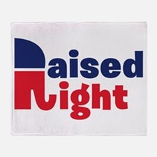 Raised Right Throw Blanket