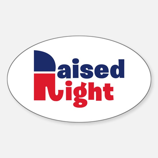 Raised Right Sticker (Oval)