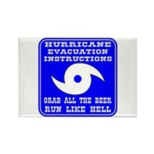 Hurricane Evacuation Rectangle Magnet