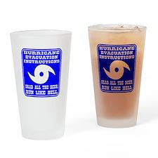 Hurricane Evacuation Drinking Glass