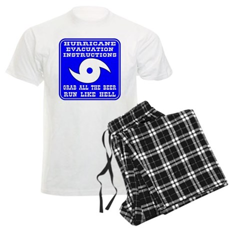 Hurricane Evacuation Men's Light Pajamas