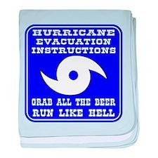 Hurricane Evacuation baby blanket