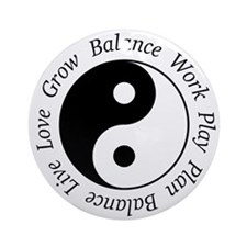 Balance Yin Yang Ornament (Round)