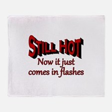 Funny Hot flashes Throw Blanket