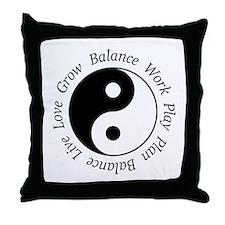 Balance Yin Yang Throw Pillow