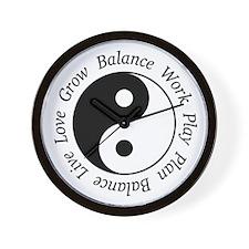 Balance Yin Yang Wall Clock