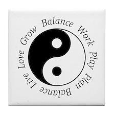 Balance Yin Yang Tile Coaster