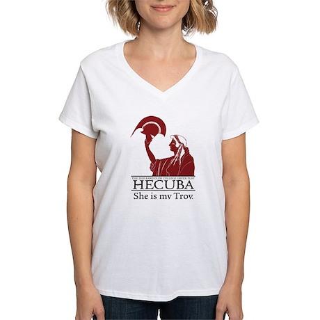 Greek Play 2010: HECUBA Women's V-Neck T-Shirt
