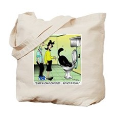 Low-Flow Toilets & Cats Tote Bag