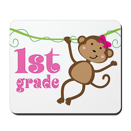 Cute 1st Grade Monkey Gift Mousepad