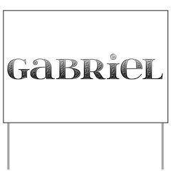 Gabriel Carved Metal Yard Sign