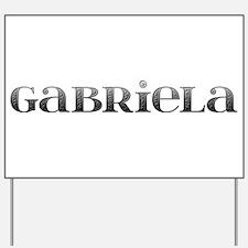 Gabriela Carved Metal Yard Sign