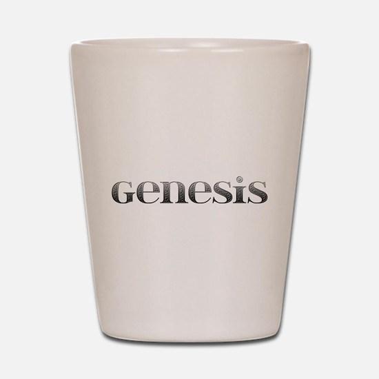 Genesis Carved Metal Shot Glass