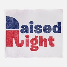 Raised Right 2 Throw Blanket