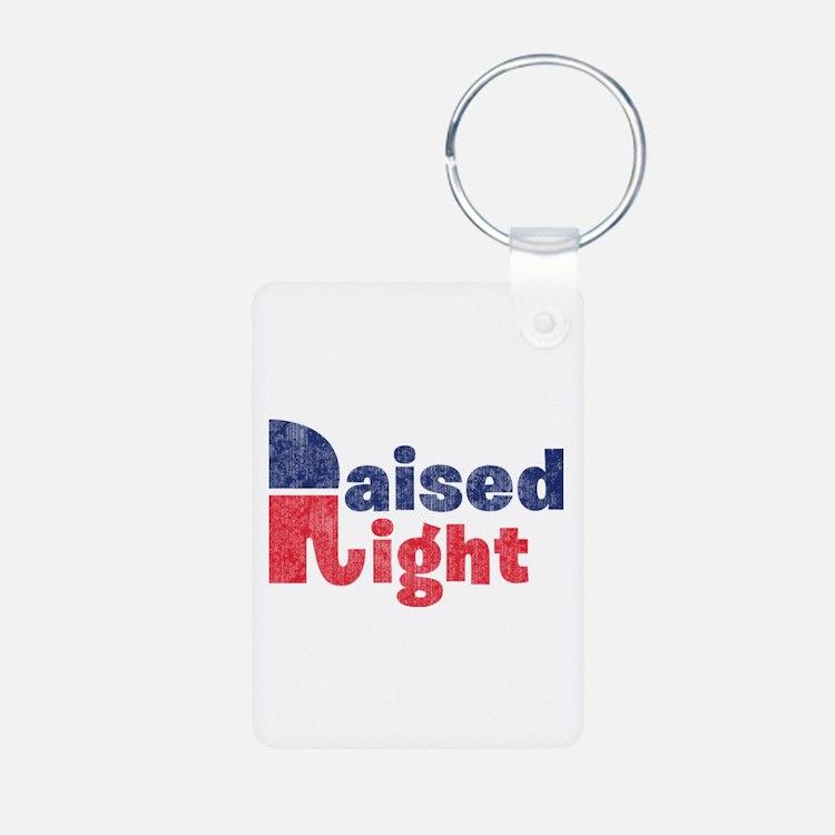 Raised Right 2 Keychains