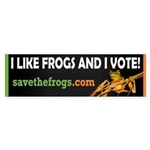 SAVE THE FROGS! Sticker (Bumper)
