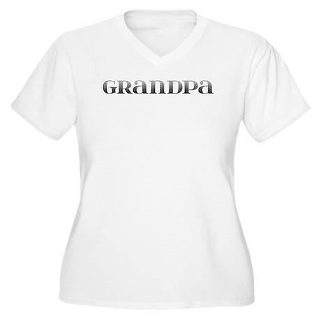 Grandpa Carved Metal Women's Plus Size V-Neck T-Sh