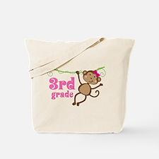 Cute 3rd Grade Monkey Gift Tote Bag