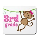 Cute 3rd Grade Monkey Gift Mousepad