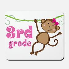 Cute 3rd Grade Monkey Gift Mousepad