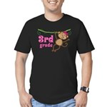 Cute 3rd Grade Monkey Gift Men's Fitted T-Shirt (d
